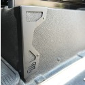 Seat box corner protectors stainless steel black or silver for Land Rover Defender