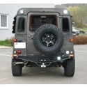 Spare wheel carrier stainless steel / black for Land Rover Defender SW/HT to 2001 by Nakatanenga