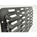 "Front grille ""racing"" embossed powder coated black  for Land Rover Defender"