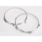 """Stainless steel mounting rings for 7"""" main headlights Land Rover Defender"""
