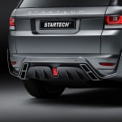 "STARTECH Rear bumper ""1"", PUR R-RIM, with integrated exhaust tips and central rear fog light in F1 design, not for SVR, Range Rover Sport from 2014, with tow bar"