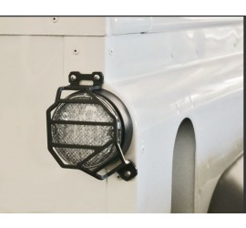 Stop light protection, rear, for SVX special edition Defender, black powder coated.