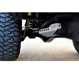 Protection sliders for rear trailing arm mounts for Land Rover Defender 90