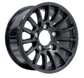 "Bowler alloy wheel  7.5"" x 16"" Black"