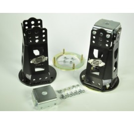 Adjustable front shock tower for pin, for Defender standard height