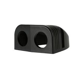 Surface mounted housing DUAL for 12V socket, USB socket or voltmeter