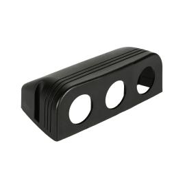 Surface mounted housing TRIPLE for 12V socket, USB socket or voltmeter
