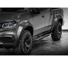 Carlex Design (Terrain) side steps for Mercedes X-Class, Line-X coating or black powder coated