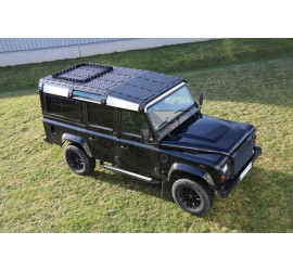 CargoBear HD modular roof rack with tilted front for Land Rover Defender 110 - long 2765mm