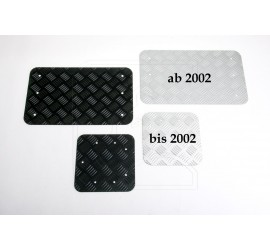 Aluminium chequer plate anodised for rear end door Land Rover Defender 90/110 outside