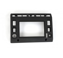 2-DIN console / fascia plate / faceplate black for Land Rover Defender TD5, 2002-2007