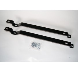 Seat rail extension stainless steel black for Defender standard seat