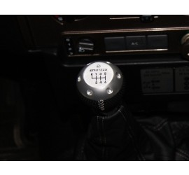 Gear knob, 6 speed manual with leather boot for Defender TD4