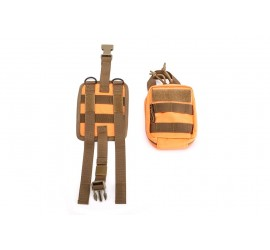 Nakatanenga MOLLE First aid bag with base plate, orange-coyote