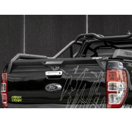 Carlex Design Rear spoiler - Ford Ranger, Line-X coating