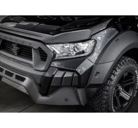 Carlex Design Bonnet lip - Ford Ranger, Line-X coating