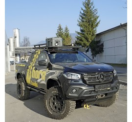 horntools Roof Rack NAVIS Mercedes X Class from 2017, flat, Alu with or without railings