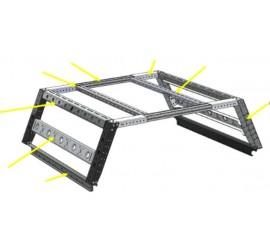 horntools Pickup Bed Rack System Mid Top DC - B-RACK 45cm x 135cm
