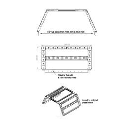 horntools Pickup Bed Rack System High Top DC - B-RACK 60cm x 135cm