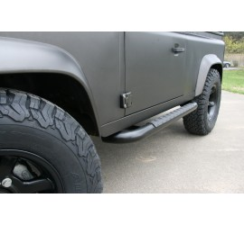 Black Raptor stainless steel side steps for Land Rover Defender 90 / 110