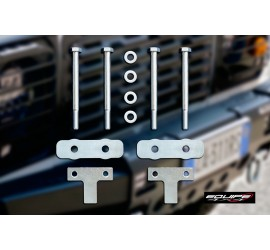 Front bumper mounting kit galvanized for Land Rover Defender