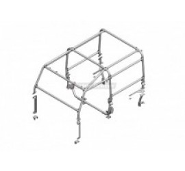 Safety Devices 6 point external Roll Cage, L213, for Land Rover Defender 90 hard top/Station Wagon 3-door - without bulkhead