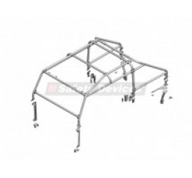 Safety Devices 6 point full external Roll Cage, L243, for Land Rover Defender 110 Double Cab Pick-Up 4-door