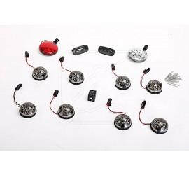 Smoke grey  LED light set of 8 to 12 lights for Land Rover Defender