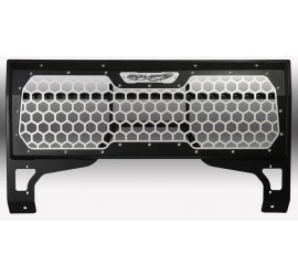 Low frame honeycomb front grill for Land Rover Defender with low profile winch