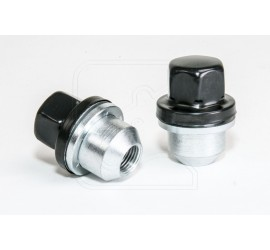 Wheel nut, BLACK, for alloy wheel for Land Rover Defender