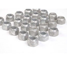 Wheel nuts for steel rims set of 23 galvanized for New Defender 2020