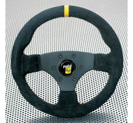 Sport steering wheel black suede with yellow Indicator stripe