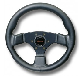 Sport steering wheel 360mm genuine leather black