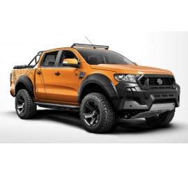 Carlex Design (Terrain) side steps for Ford Ranger, Line-X coating