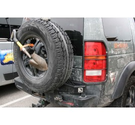 Spare wheel carrier stainless steel black for Land Rover Discovery 3 + 4  by Nakatanenga
