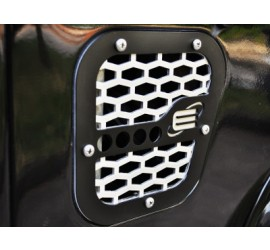 Side grille / grid cover for Defender 110/90, TD4 / TD5 / Tdi, black and silver or black