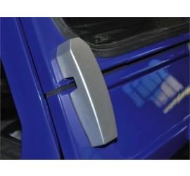 Aluminium Windscreen Frame Brackets silver for all Land Rover Defender 90/110/130