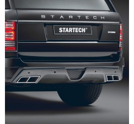 STARTECH Carbon Diffusor in high-gloss finish for rear bumper for Range Rover from 2013