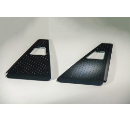 Wing protection plates alu black for Land Rover Defender